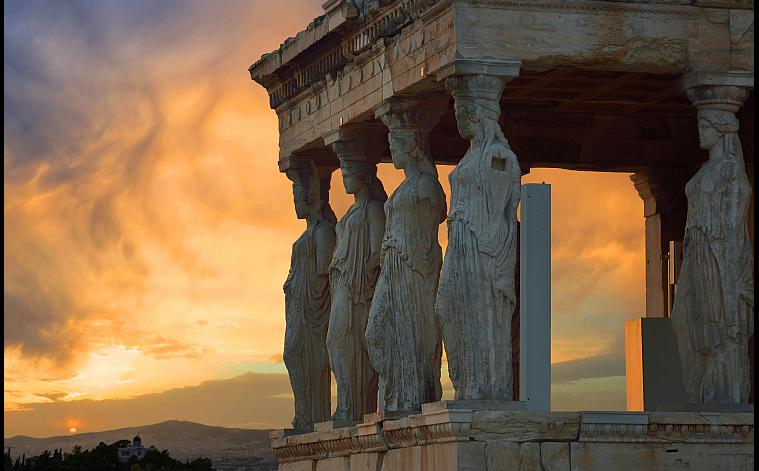 Karyatides sunset
